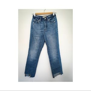 Madewell Perfect Summer Jean with Uneven Hem